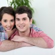 Young affectionate couple — Stock Photo #8465392