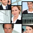 Professionals on phone — Stock Photo