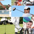 Doing different sports — Stock Photo