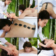 Collage of a woman at the spa — Stock Photo