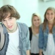 Teenagers at school — Stock Photo #8467035