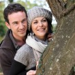 Couple walking in the forest — Stock Photo #8469109