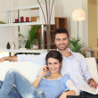 Couple lounge — Stock Photo