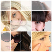 Montage of young female eyes — Stock Photo