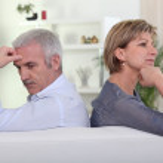 Couple having a disagreement — Stock Photo
