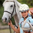Female polo player - Stock Photo