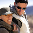 Couple hiking in the wilderness — Stock Photo