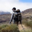 Hiker walking — Stock Photo