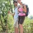 Couple hiking — Stock Photo #8471546