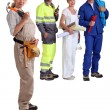 Group of artisans — Stock Photo