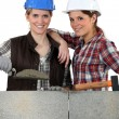 Portrait of team of bricklayers — Stock Photo #8474780