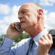 Stock Photo: Businessmtalking on his mobile phone