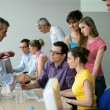 Stock Photo: Businesspeople on an education training