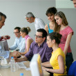 Stock Photo: Businesspeople on education training