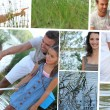 Family mosaic - Stockfoto