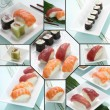 Sushis and makis — Stock Photo