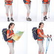 A woman with a sportive knapsack — Stock Photo #8479855