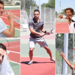 Pictures of tennis players — Stockfoto