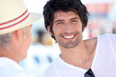 Man smiling — Stock Photo