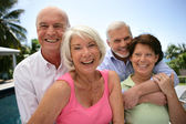 Two old couples — Stock Photo