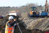 Surveyor on site — Stock Photo
