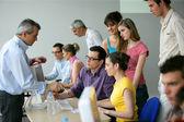 Företagare på en utbildning utbildning — Stockfoto