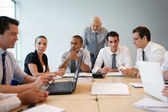 Business team on a professional training — Stock Photo
