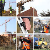 Employees and building site — Stock Photo
