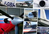 Aircraft models — Stock Photo