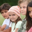 Kids in a park. — Stock Photo
