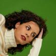 Woman with curly hair — Stock Photo