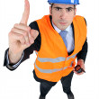 An unhappy foreman. — Stock Photo
