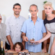 Portrait of a family at birthday party — Stock Photo #8485388