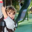 Girl playing in the park — Stock Photo #8485545