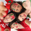 Portuguese football supporters — Stock Photo