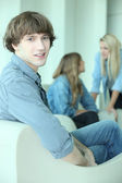 Patients in waiting room — Stock Photo