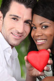 Couple celebrating Valentine's Day — Stock Photo