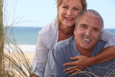 Mature couple shining with happiness — Stock Photo