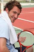 Giocatore di tennis di riposo — Foto Stock