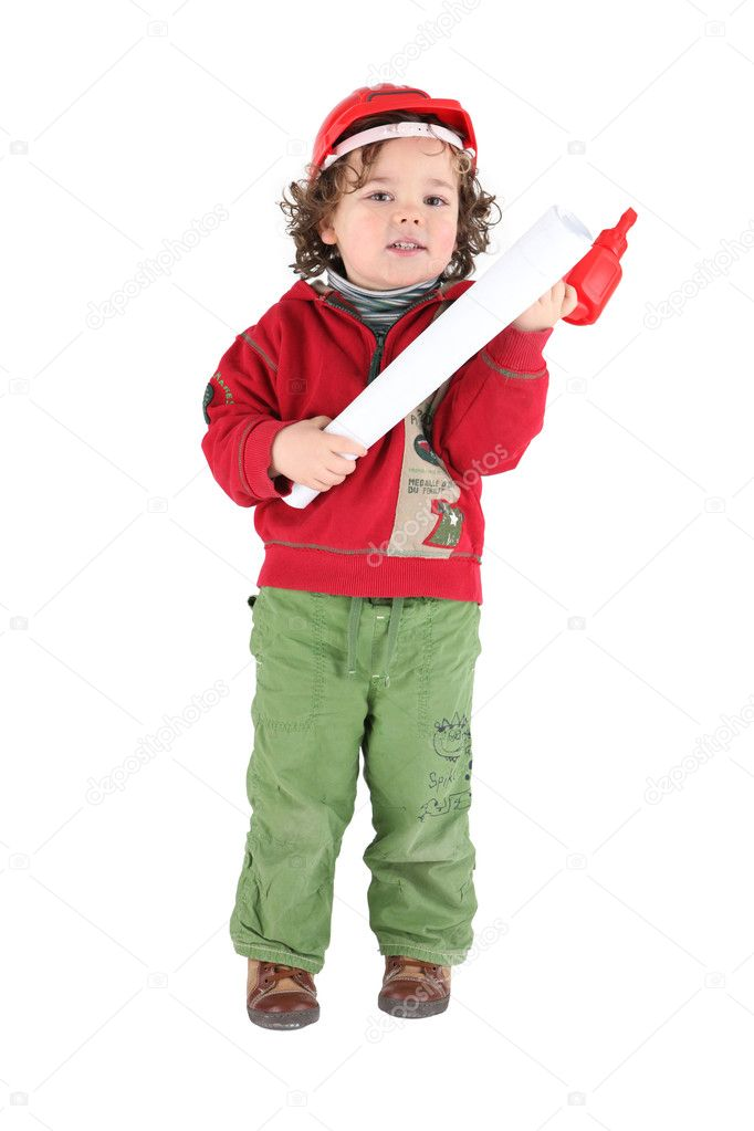 Little boy decorator — Stock Photo #8482757