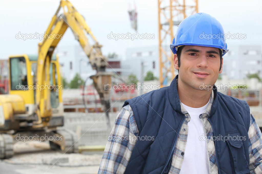 Unhappy Construction Worker Construction Worker Photo by