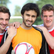 Portrait of 3 football players — Stock Photo #8529172