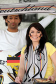 Two German football supporters — Стоковое фото