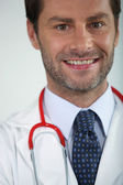 Male doctor smiling — Stock Photo