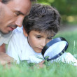 Royalty-Free Stock Photo: Father and son in the park