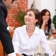 Stock Photo: Couple dining