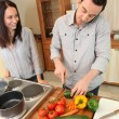 Young couple cooking — Stock Photo #8537680