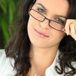 Young womin trendy glasses — Stock Photo #8538062