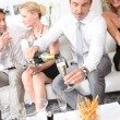 Man pouring champagne — Stock Photo #8538451