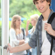 Foto Stock: Male student on campus